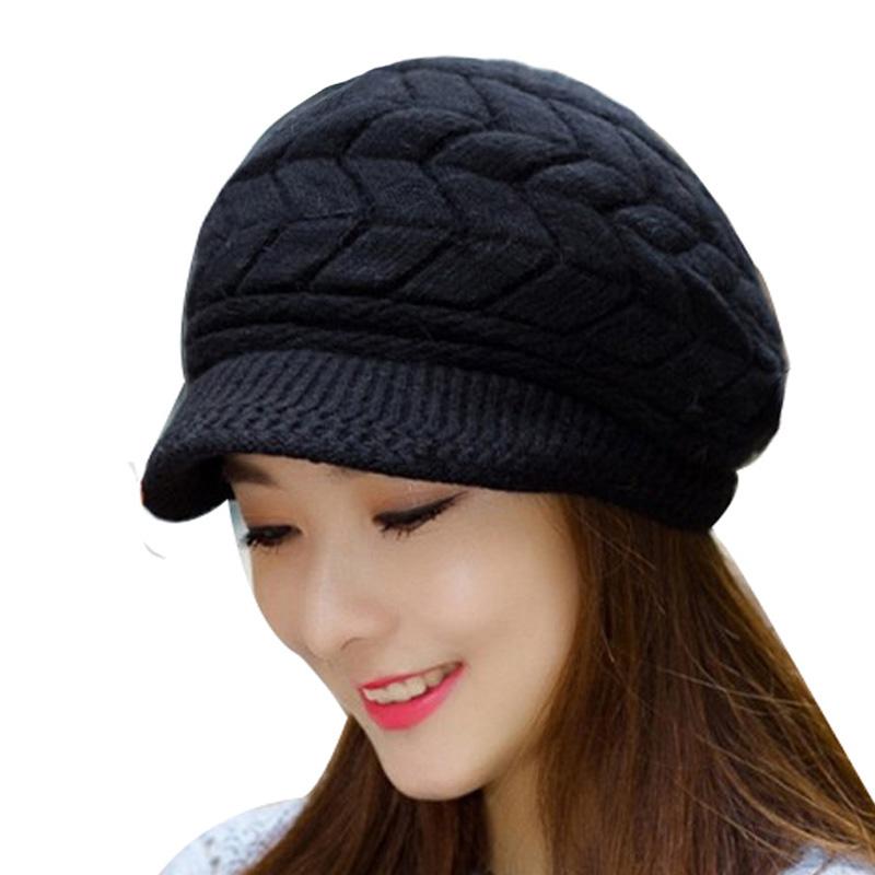 7c78f6c9b8e Winter Beanies Knit Women s Hat Ladies Beanie Skullies Caps Bonnet ...