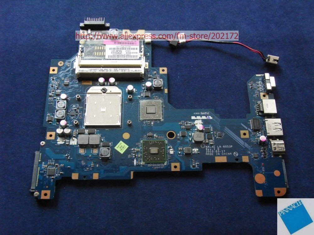K000103970 MOTHERBOARD FOR TOSHIBA Satellite L670D L675D NALAE U01 LA-6053P nokotion sps v000198120 for toshiba satellite a500 a505 motherboard intel gm45 ddr2 6050a2323101 mb a01