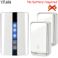 YIFAN New Self Powered Wireless DoorBell Waterproof No Battery EU Plug Smart Door Bell 2 Button