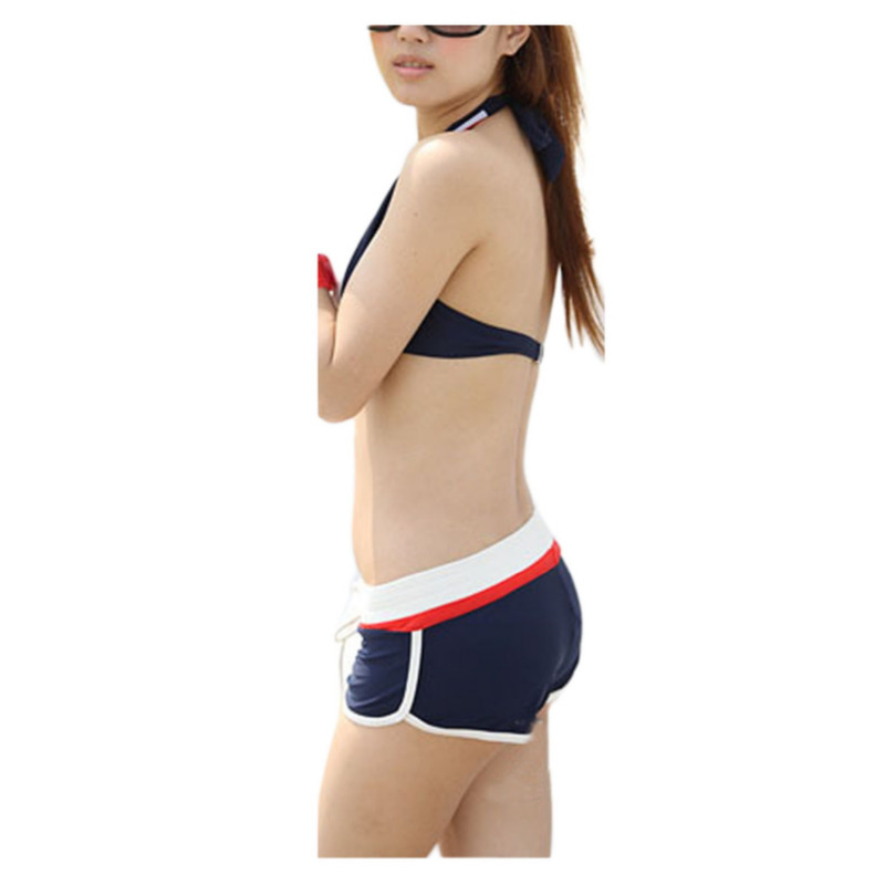 2017 New Fashion Sexy 3pcs Bikini Swimsuit Women Halter Underwire Triangle Shorts Boxer Brief