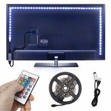 2.5m USB RGB LED Strip 5050 SMD Flexible LED Backlight TV Kit Flat Screen LCD Desktop Computer LED TV Backlighting