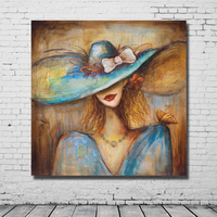 Modern abstract figure oil paintings classical beauty lady portrait oil paintings modern home decor