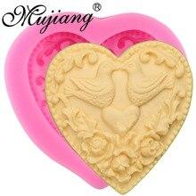 DIY торт формы для выпечки сердце Форма любовь птицы Силиконовые шоколадные конфеты помадка формы свадебный торт украшения Инструменты