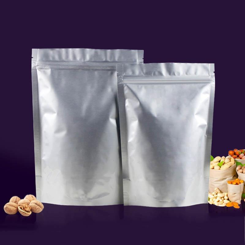Us 6 89 30 Off Waterproof Resealable Fda Grade Ziplock Bag 50pc Food Package Tea Pouch Aluminum Foil Storage Bags In Saran Wrap Plastic