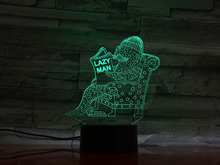 Animal Seal Led Night Light Touch Sensor 7 Color Changing Decorative Lamp Child Kids Baby Kit Nightlight seal lazy men 3D Lamp animal hippo led night light touch sensor 7 color changing decorative lamp child kids baby kit nightlight river horse 3d lamp