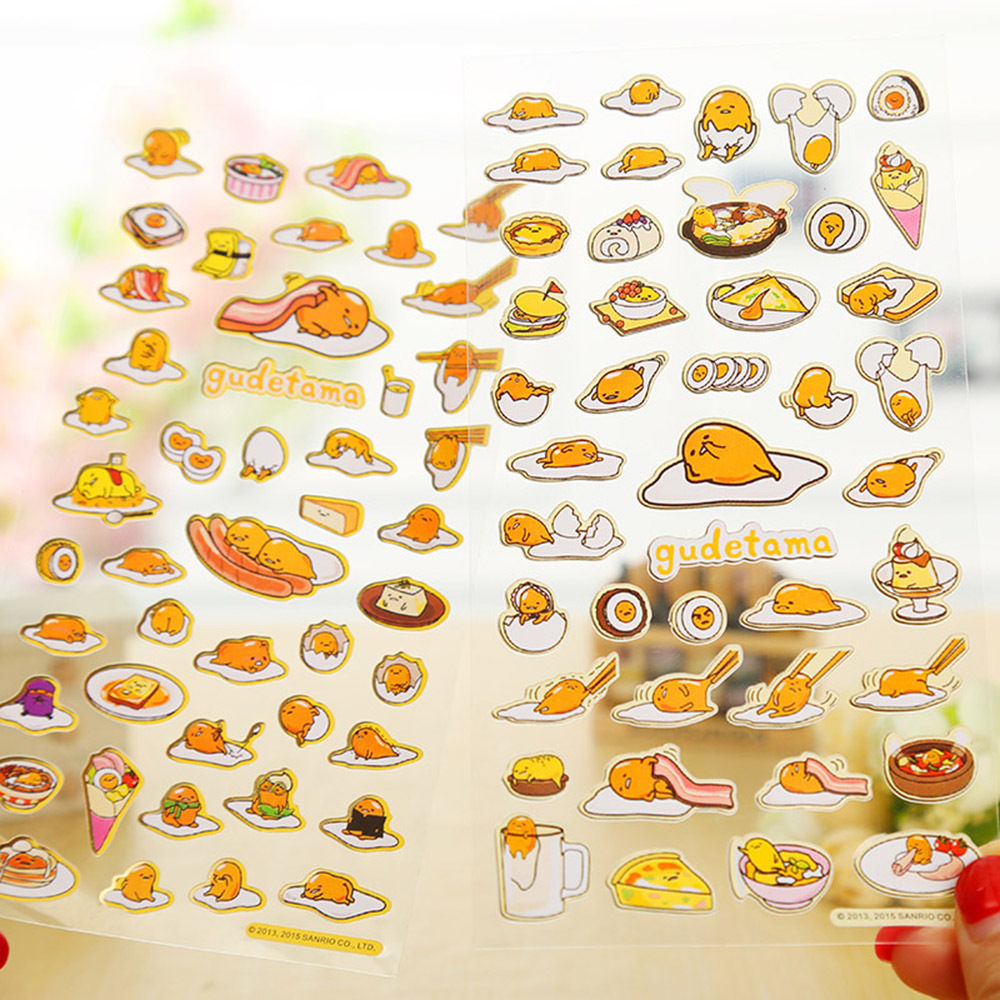 Cute Cartoon Lazy Egg Yolk Sticker Kids DIY Diary Album Scrapbooking Decoration