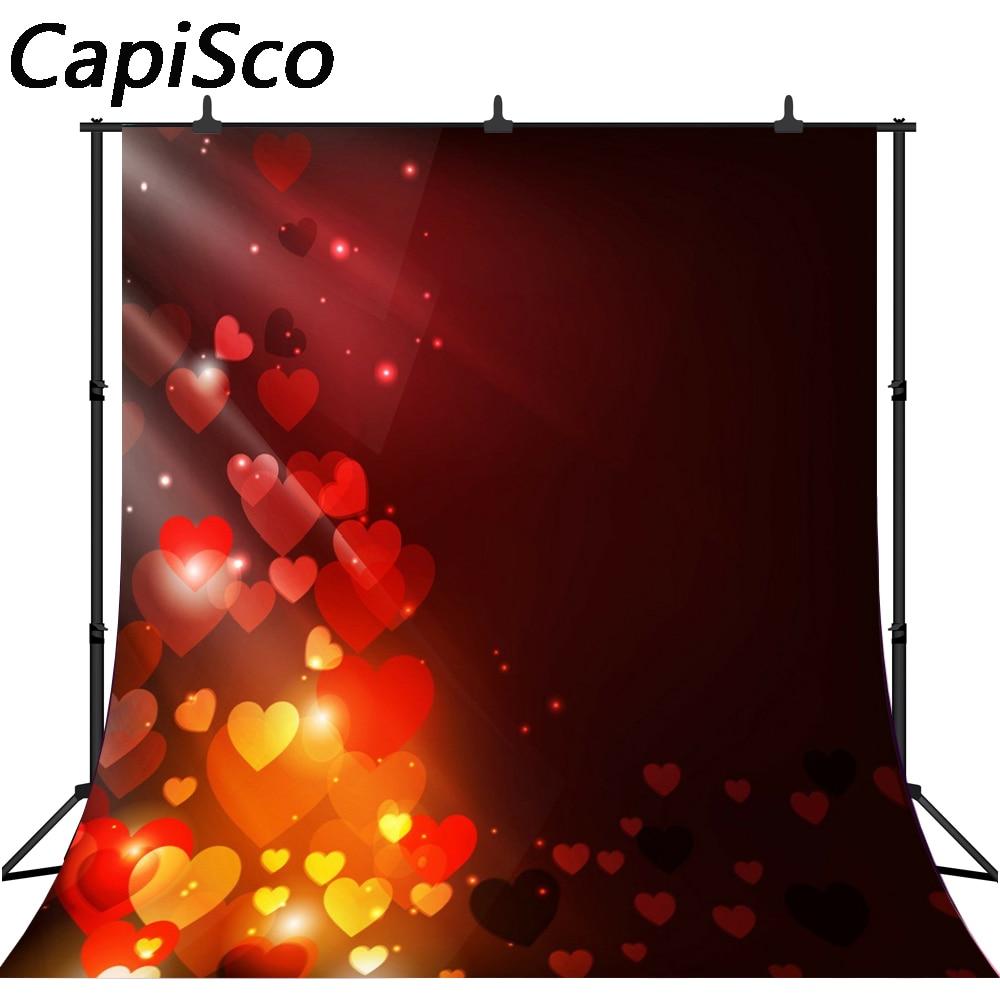 Capisco Valentine S Day Photography Background Vintage Red Love Backdrops Bokeh Glitter Backdrop Newborn Photo Background Aliexpress