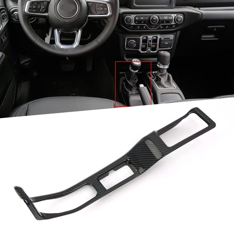 LHD For Jeep Wrangler JL 2018 Interior Gear Shifter Panel Handbrake Cover Trim
