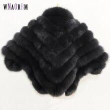 Женский жилет из натурального Лисьего меха с рукавом «летучая мышь», зимнее теплое меховое пальто, однотонное пальто из натурального меха, пальто из лисы