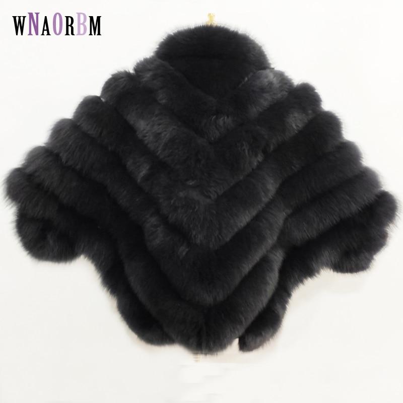 new real fox hair lady vest bat sleeve winter warm fur coat jacket solid color real fur coat fox coat