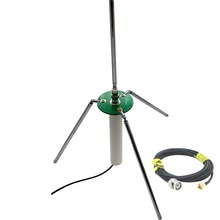 Portable comet GP 3  telescopic antenna with 50 Ohm RG174 RF Coaxial Cable Pure Copper with BNC male SMA male connectors