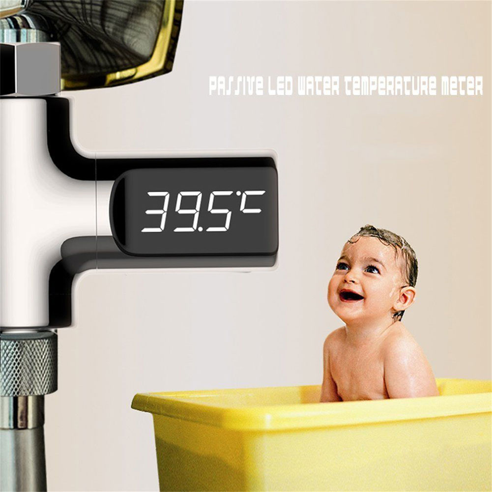 LED Shower Thermometer With LED Digital Display Household Real Time Home Water Temperture Monitor For Baby Care --M25
