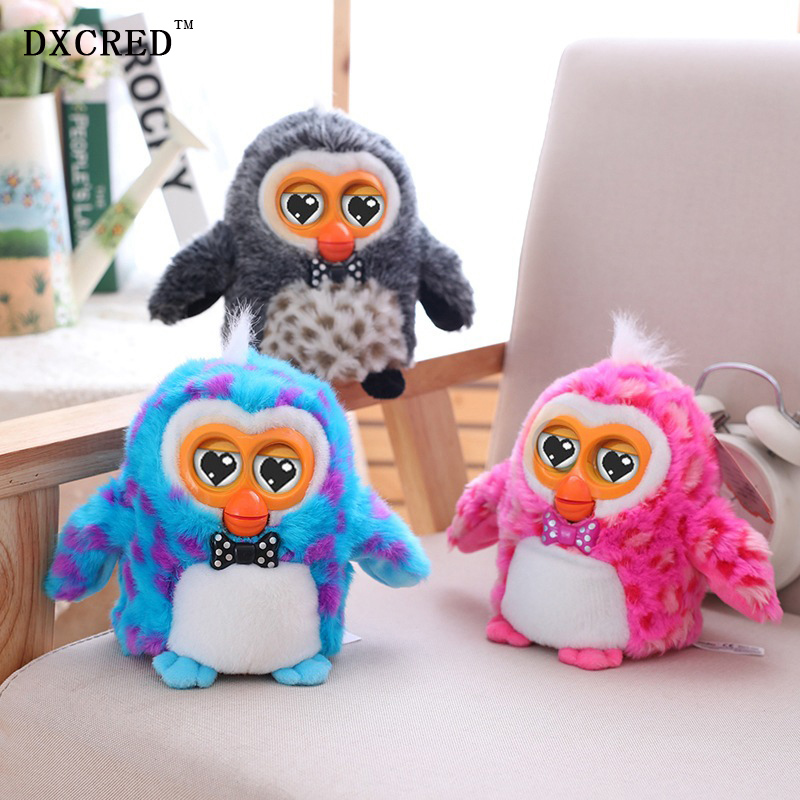 New 15CM Intelligent Electronic Pet Owl Plush Toy Talking Toys Interactive Plush Owl Tell Stories Early Education Toys Kids gift