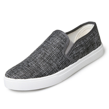2016 Summer Newest Men Shoes Loafers Solid Color Black Gray Canvas Shoes Pedal Shoes Lazy Casual Low Men Fashion Casual Shoes