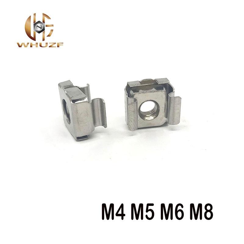 10pcs m4 m5 m6 m8 steel Quartet Floating Nut Cassette Elastic Enclosure Card Cage Nuts