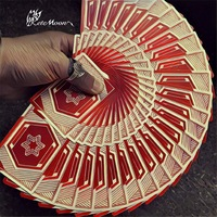 Vigor By BOMBMAGIC Deck Flower Cut Playing cards Poker Magic Tricks Magic Props