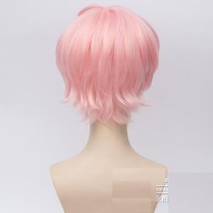 Image 3 - Nouvelle main Tour A3! Cosplay perruques Anime jeu Muku Sakisaka résistant à la chaleur cheveux synthétiques Misumi Ikaruga Halloween fête unisexe perruque