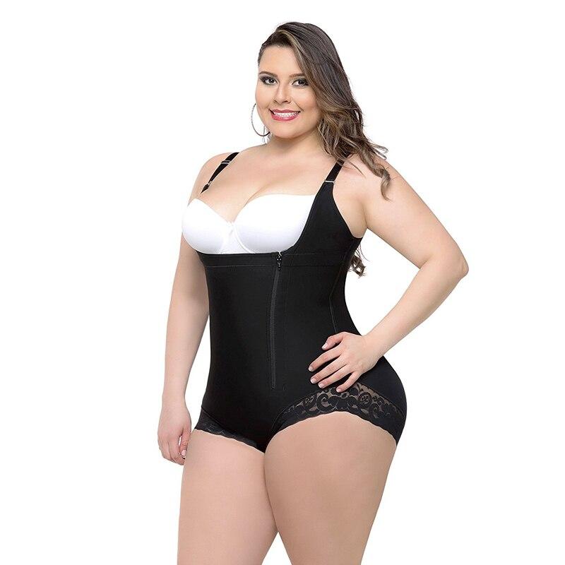 Plus size bustier corset corselet body shaper woman waist corsets corset slimming underwear tummy shaper panty control panties