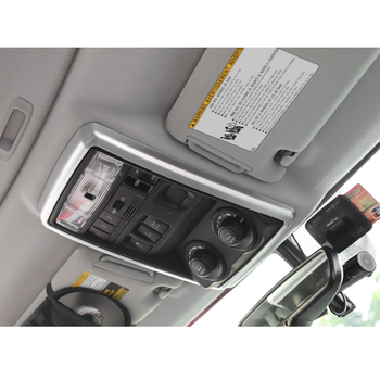 Car Roof Reading Light Lamp Decoration Frame Sticker For Toyota 4Runner TRD 2010 up Interior Car Styling