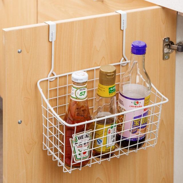Hot Metal Storage Basket Kitchen Door Cabinet Drawer Back Hanger Bathroom Office Sundries Organizer Rack