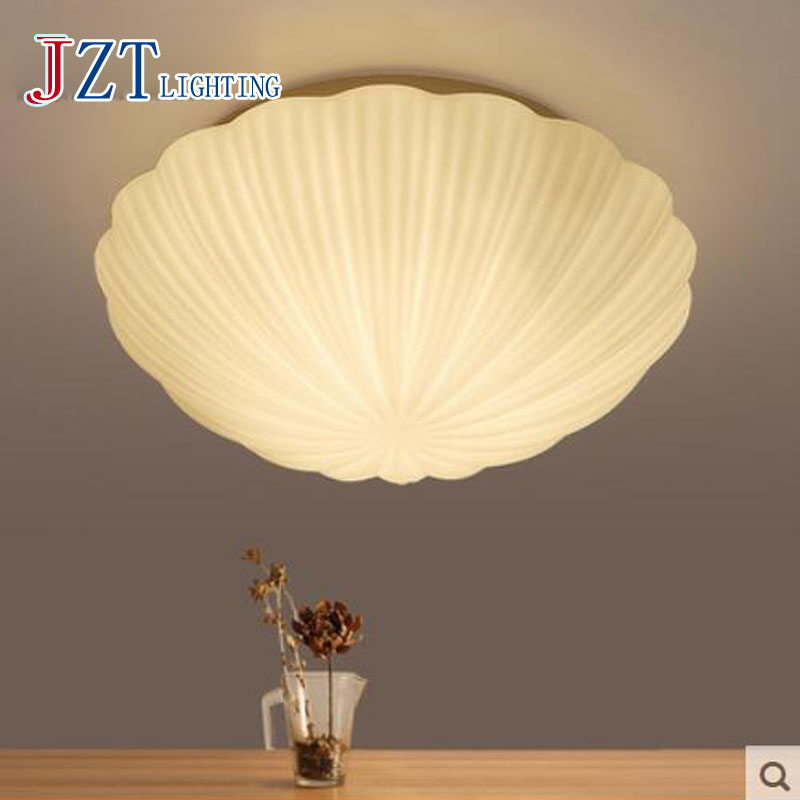 T Creatie Simple Modern Romantic LED Ceiling Light For Living Room Bedroom Personality Home Shell Lighting Indoor Artistical am 0813 t полочка romantic