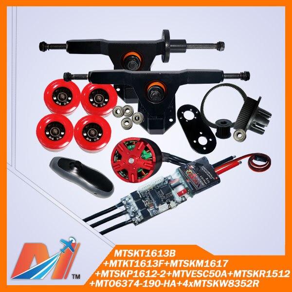 Maytech 11pcs 6374 skateboard outrunner dc motor diy for Diy electric motor repair