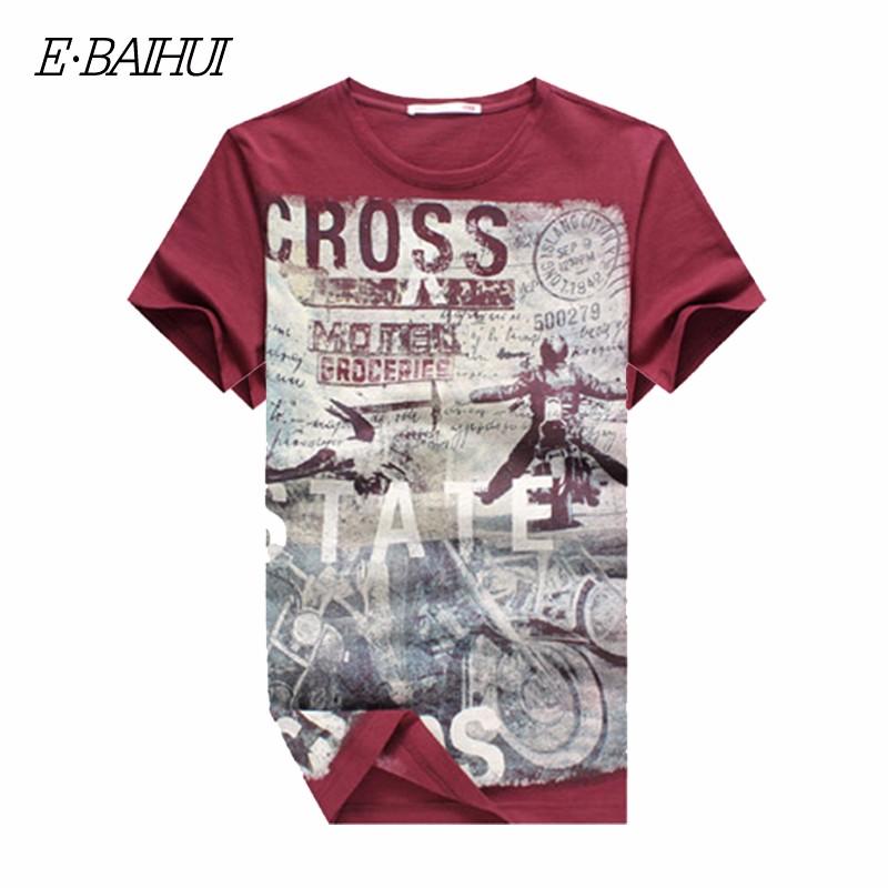 E-BAIHUI Summer Men Cotton Clothing Dsq T-shirtS Camisetas t shirt Fitness tops TeeS Skateboard Moleton mens t-shirts Y032 5