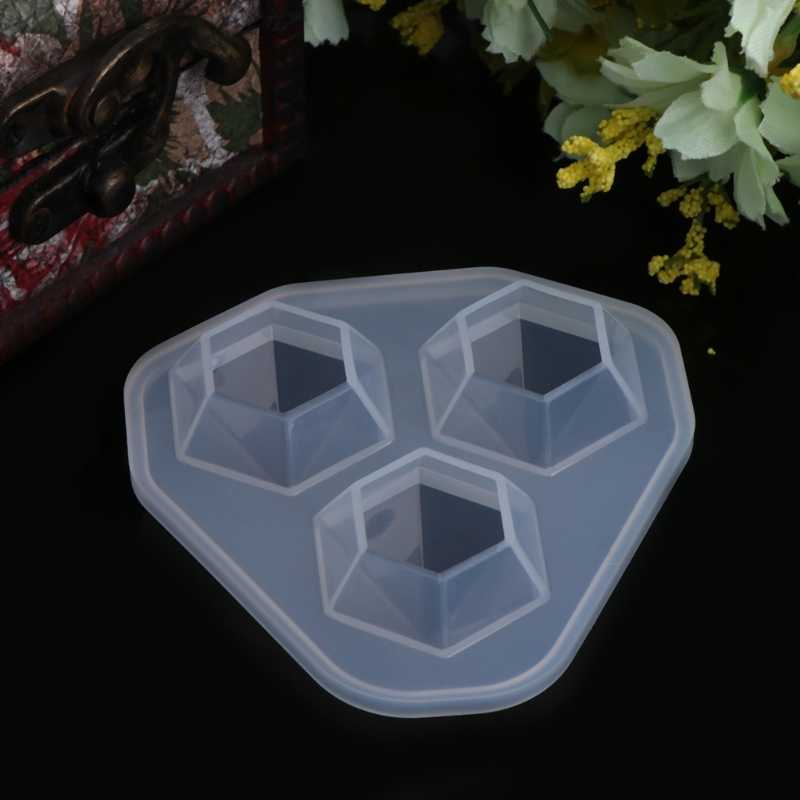 JAVRICK Molde de Silicone Em Forma de Diamante Jóias DIY Ferramentas de Decoração Do Bolo de Sobremesa Artesanal