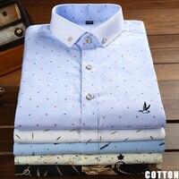 2017 Dudalina Sergio k Men Shirt Fashion Long Sleeve Casual Top Cotton Floral Print Embroidery Reserve Brand Dress Blouses shirt