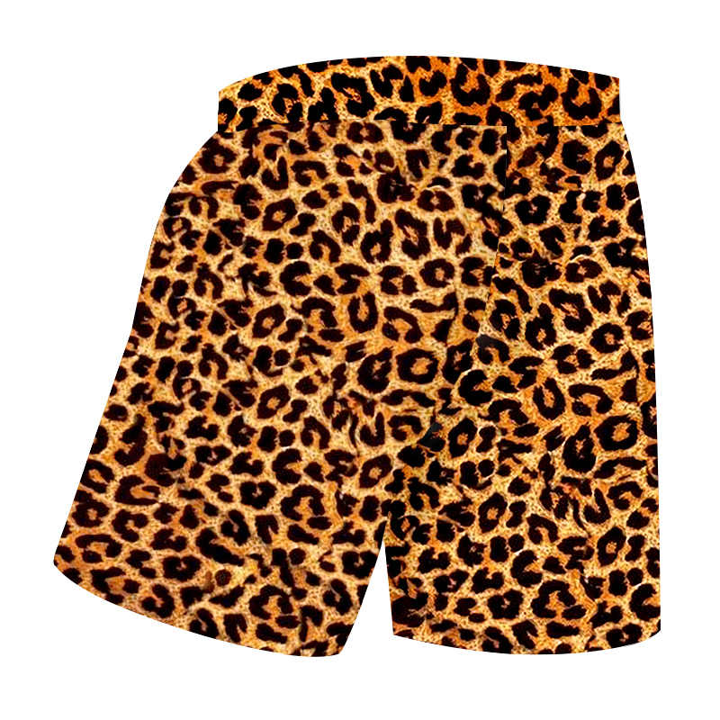 7f050fa080 OGKB Casual Shorts Homme New Gyms Animal 3D Print Leopard Harajuku Big Size  Beach Shorts Homme Summer Short Trousers Wholesale