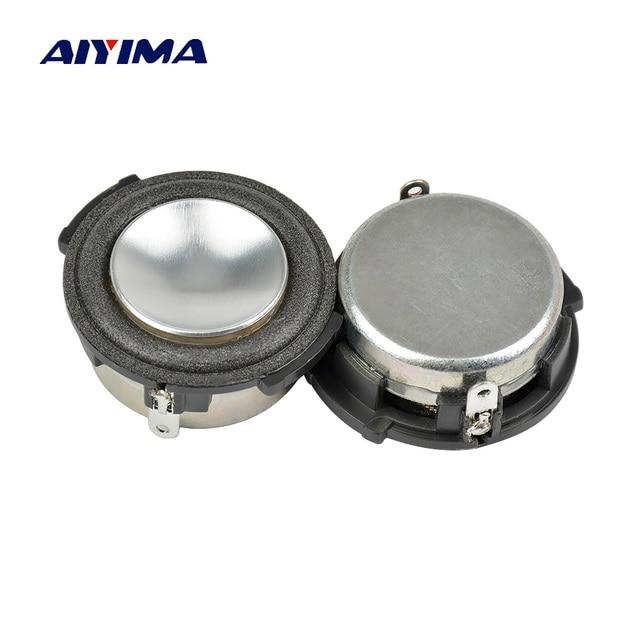 AIYIMA 2 piezas 1 pulgada gama completa de Audio portátil altavoz 8 Ohm 4 W Woofer altavoz sonido de cine en casa sistema para HARMAN