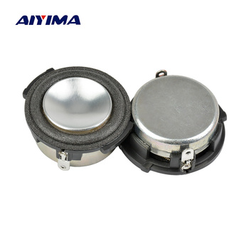 AIYIMA 2Pcs 1 Inch Full Range Audio Portable Speaker 4 Ohm 4W Woofer Loudspeaker Speaker Home Theater Sound System For HARMAN 2 pcs 35mm 75mm audio speaker woofer loudspeaker dome pp dust cap cone cover