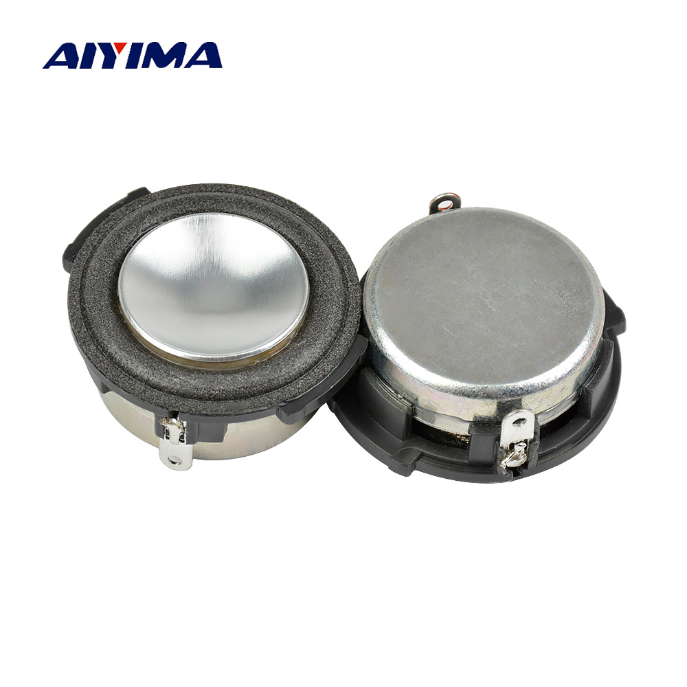 AIYIMA 2Pcs 1 Inch Full Range Audio Portable Speaker 4Ohm 4W Woofer Loudspeaker Speaker Home Theater Sound System For HARMAN h 019 fountek fr88ex full range 3 inch hifi speaker amplifier speaker hot sale 84 3db 1w 1m