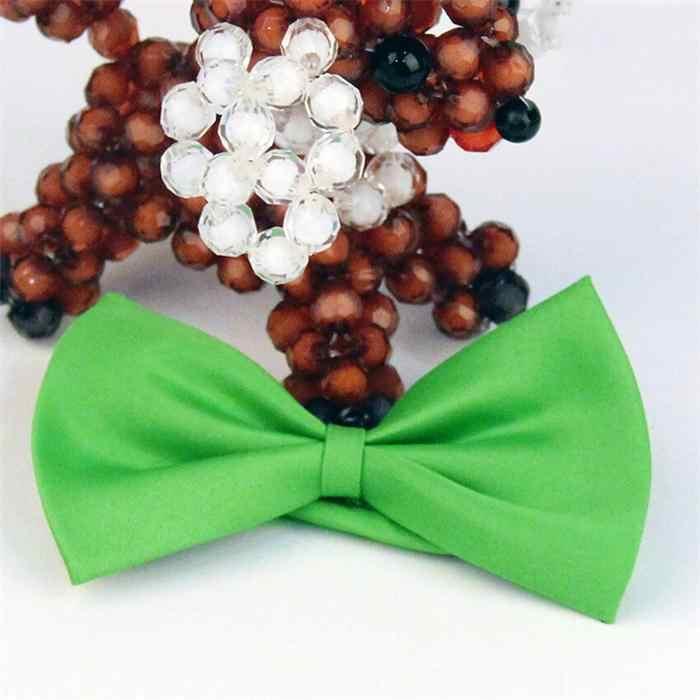 1 قطعة ربطة العنق من القوس الأنيق للرجال توكسيدو كلاسيكي بلون حفل زفاف أحمر أسود أبيض أخضر وردي أزرق فراشة ماركة كرافات