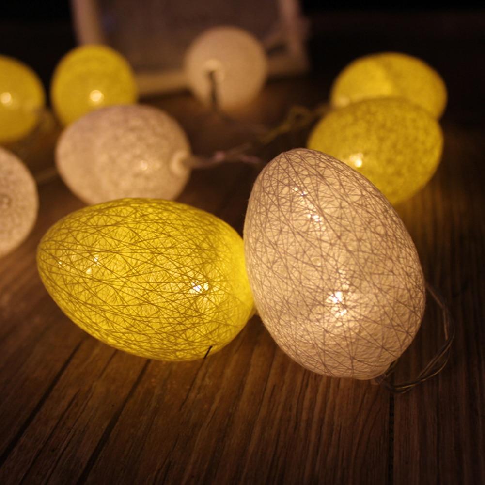 1.8M 10Pcs LED Easter Egg Led Light for Easter Party DIY Decoration Wedding Home Lamp String Decor Lights