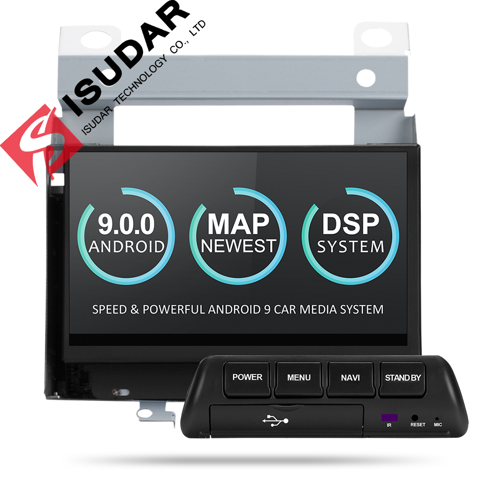 Lecteur multimédia de voiture Isudar 2 Din Android 9 pour Land Rover/Freelander 2 2007-2012 GPS Automotivo Radio Wifi Quad Core DVR DSP