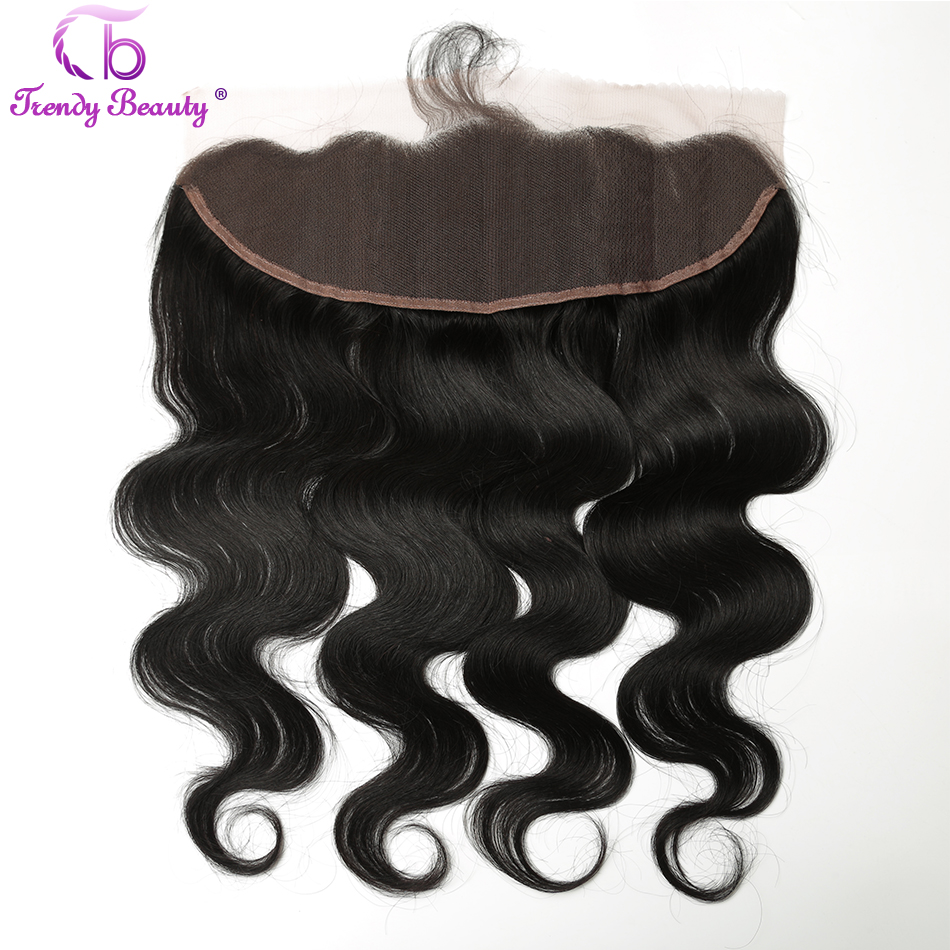 Trendy Beauty Peruvian Hair Lace Frontal Closure Body Wave 13x4 Lace Closure Frontal With Baby Hair