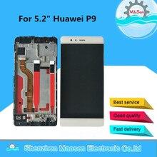 """5.2 """"オリジナルのテスト m & セン huawei 社 P9 液晶表示画面 + タッチパネル用フレームとタッチスクリーンデジタイザ huawei 社 P9 ディスプレイの交換"""