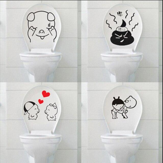 5 Satz Reizende Wasserdichte Wc Aufkleber DIY Personalisierte Möbel  Dekoration Waschmaschine Badezimmer Aufkleber Wohnkultur.