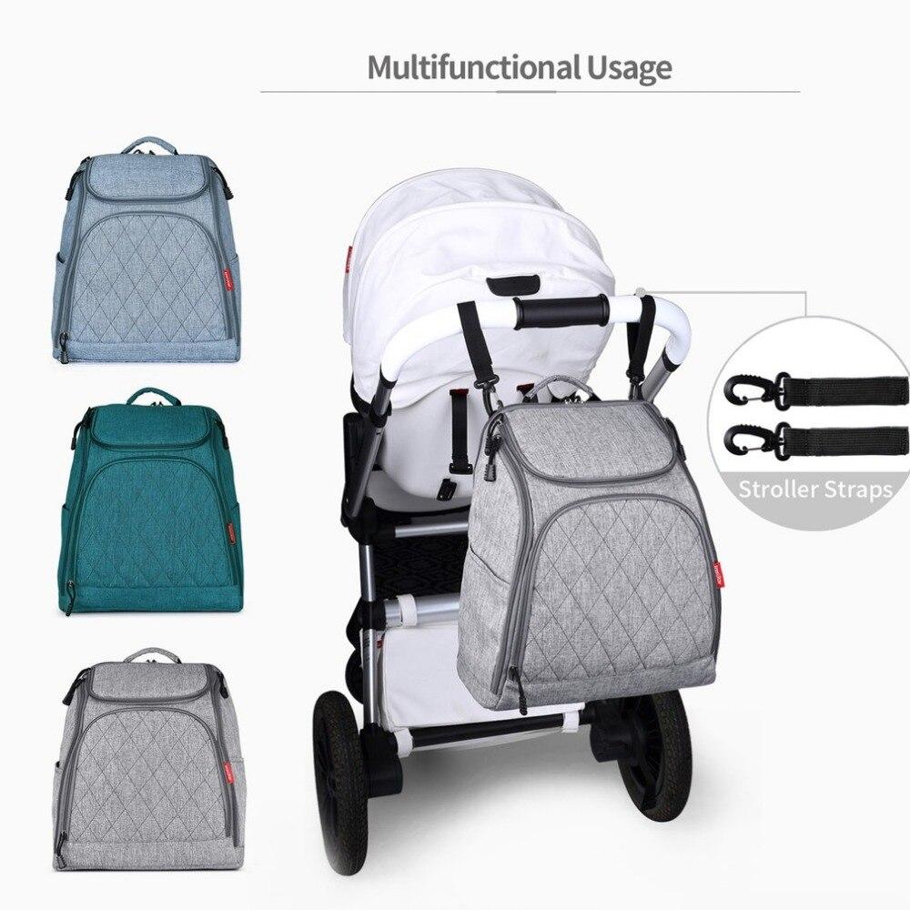 Ромба мама Рюкзак Детские пеленки рюкзак коляска висит сумка большой Ёмкость детские вещи кенгуру подгузник сумка