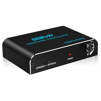 3.5mm Audio Converter,Digital to Analog Converter Coaxial Toslink to RCA 3.5mm Jack Adapter with Optical cable Volume Control