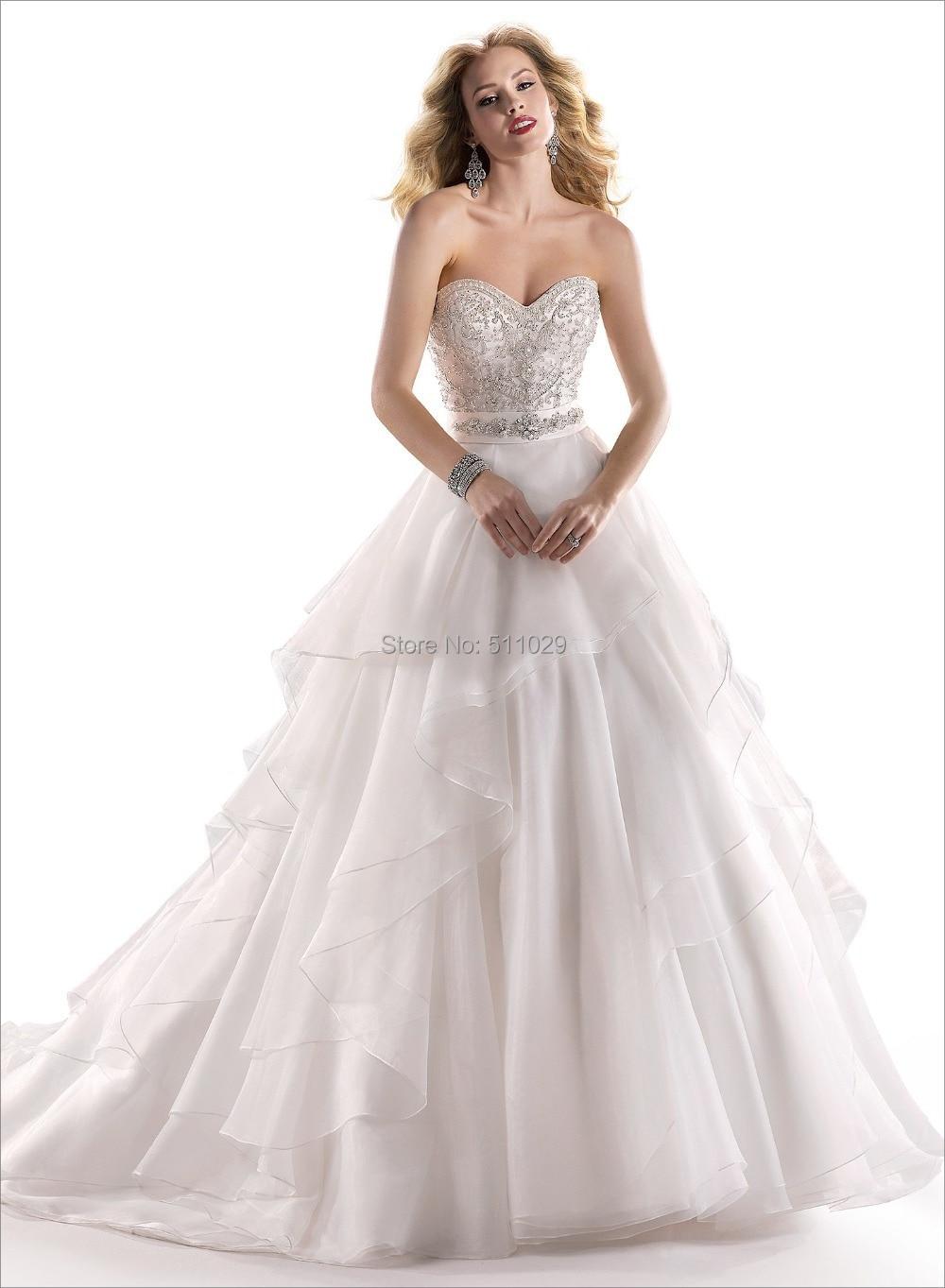 Free Shipping Wd 1776 Strapless Sxey Wedding Dress Crystal Crochet