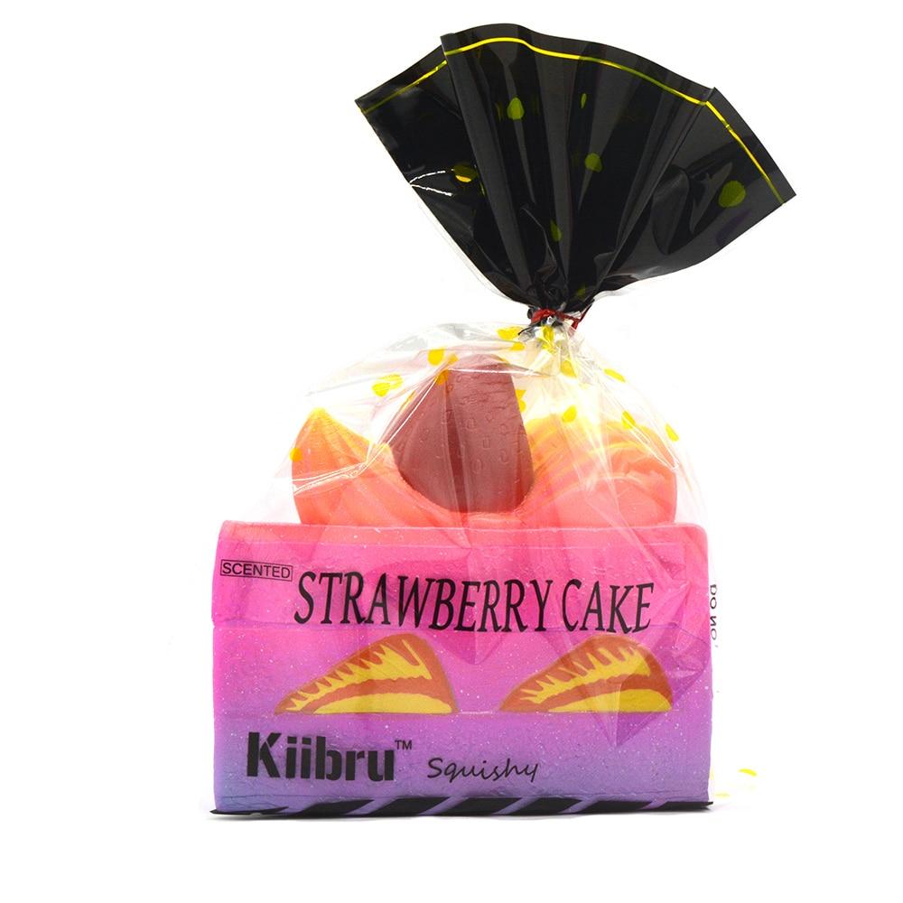 Galaxy Kiibru Rare Squishy Jumbo Strawberry Shortcake Slice Slow Rising Super 15CM Original ...