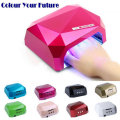 Suelina Nail Dryer&FREE SHIPPING36W Nail Dryer Diamond Shaped UV Lamp LEDCCFL Curing for Gel Nails Polish Nail Art Tools diamant