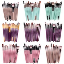 Pro 15Pcs/SET Makeup Brushes Set Eye Shadow Foundation Powder Eyeliner Eyelash Lip Make Up Brush Cosmetic Beauty Tool Kit Hot цена в Москве и Питере