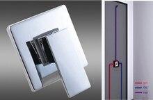 Высокое качество латуни хром закончил ванной в — стены горячей и холодной водой кран регулирующий клапан