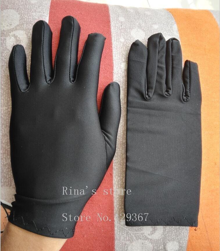 Fashion Men's Summer Thin Elastic Large White Gloves Male Black Color Etiquette Gloves Driving Gloves Wholesale