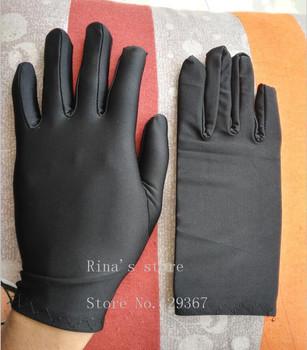 Moda męska lato cienkie elastyczne duże białe rękawiczki męskie czarne rękawiczki etykiety rękawiczki do jazdy hurtowej tanie i dobre opinie Dla dorosłych Stałe Oytall Nadgarstek Poliester finger gloves silks and satins