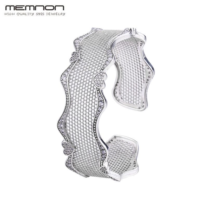 New silver Lace Of Heart Bracelet 925 sterling Silver Bracelets for women S925 silver gift to lover for Christams Memnon JewelryNew silver Lace Of Heart Bracelet 925 sterling Silver Bracelets for women S925 silver gift to lover for Christams Memnon Jewelry