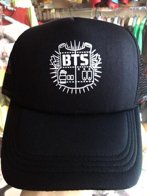 ac977ea3f8ee € 6.52 15% de DESCUENTO|Aliexpress.com: Comprar Sombrero KPOP BTS Bangtan  Boys 2018 moda diseño clásico negro gorra de béisbol del hip hop k pop ...